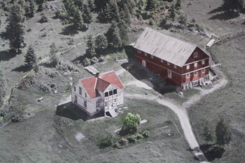 Lier-rast, flyfoto 1950-tallet